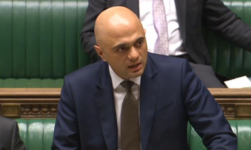 Housing Secretary Sajid Javid makes a statement to MPs in the House of Commons, London hat the Government had ordered further tests to be carried out after investigators have found that Flat doors in Grenfell Tower could only hold back a blaze for half the time they were supposed to.