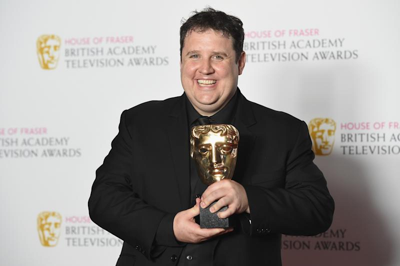 Peter Kay, winner of the Male Performance in a Comedy Programme for 'Peter Kay's Car Share' poses in the Winners room at the House Of Fraser British Academy Television Awards 2016 at the Royal Festival Hall on May 8, 2016 in London, England. (Photo by Stuart C. Wilson/Getty Images)