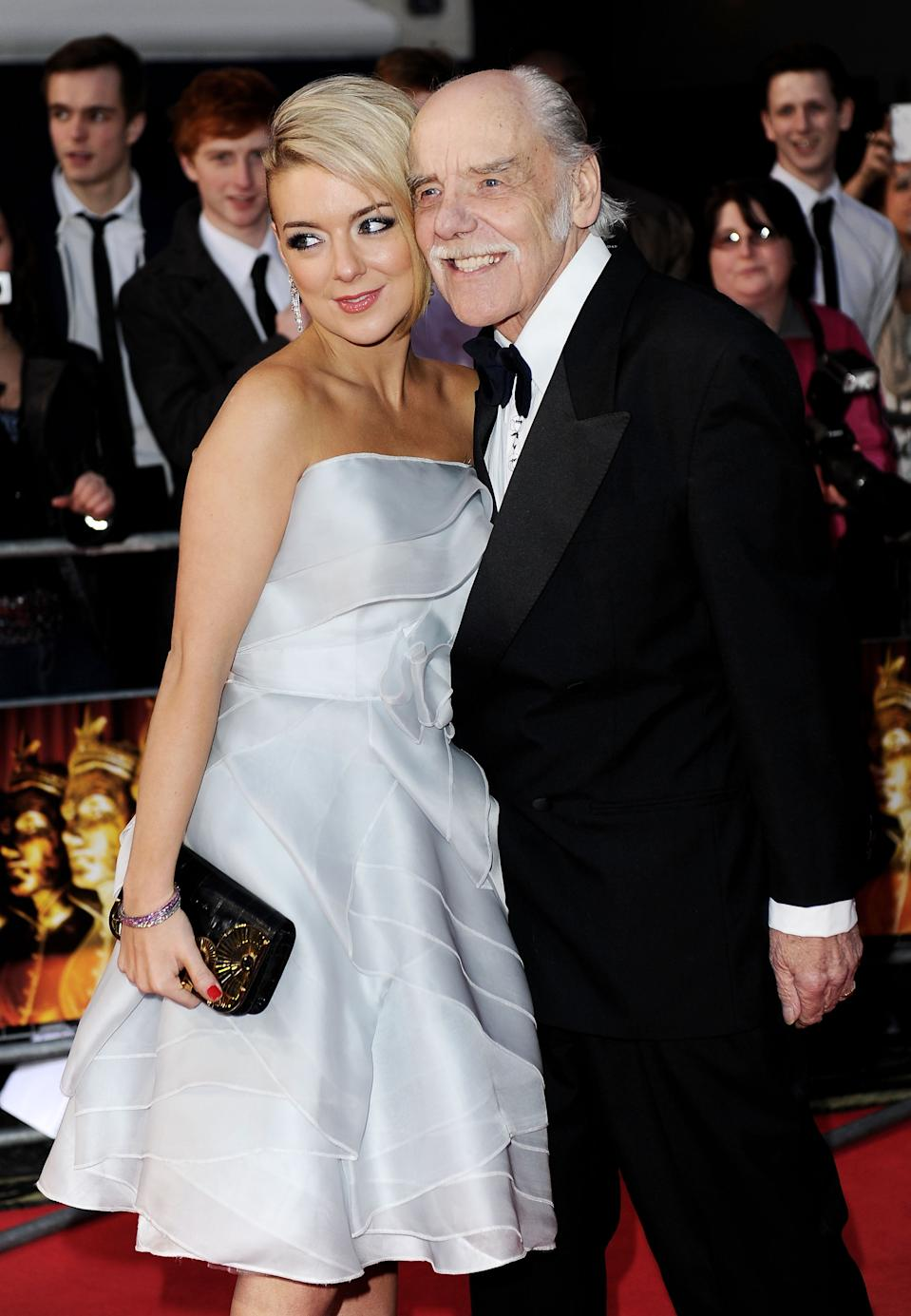 Sheridan Smith (L) and her father Colin Smith attend The Olivier Awards 2011 at Theatre Royal on March 13, 2011 in London, England. (Photo by Ian Gavan/Getty Images)