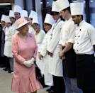 """<p>The royals' holiday meal involves a traditional turkey and after it's carved, the Queen takes a moment to honor her head chef—also with a drink, of course. </p><p>""""At the end of carving the turkey, the palace steward brings the chef a glass of whiskey, and Her Majesty raises a toast to the head chef,"""" former royal chef, Darren McGrady <a href=""""https://www.news.com.au/entertainment/celebrity-life/royals/christmas-at-sandringham-how-royal-family-privately-celebrates/news-story/b806cf4ff3b77f5548c55cc83292c771"""" rel=""""nofollow noopener"""" target=""""_blank"""" data-ylk=""""slk:reveals"""" class=""""link rapid-noclick-resp"""">reveals</a>. </p>"""