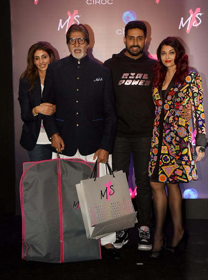 <p>Celebs at the launch of Shweta Bachchan's fashion line </p>