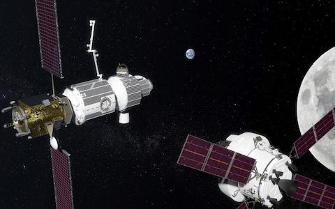 An artist's impression of the space gateway  - Credit: Nasa