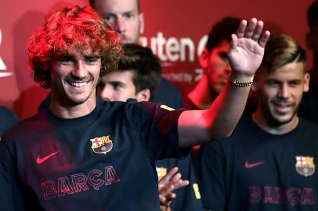 Antoine Griezmann was blasted by former club Atletico Madrid for the manner in which his transfer to Barcelona was carried out (AFP Photo/Behrouz MEHRI)