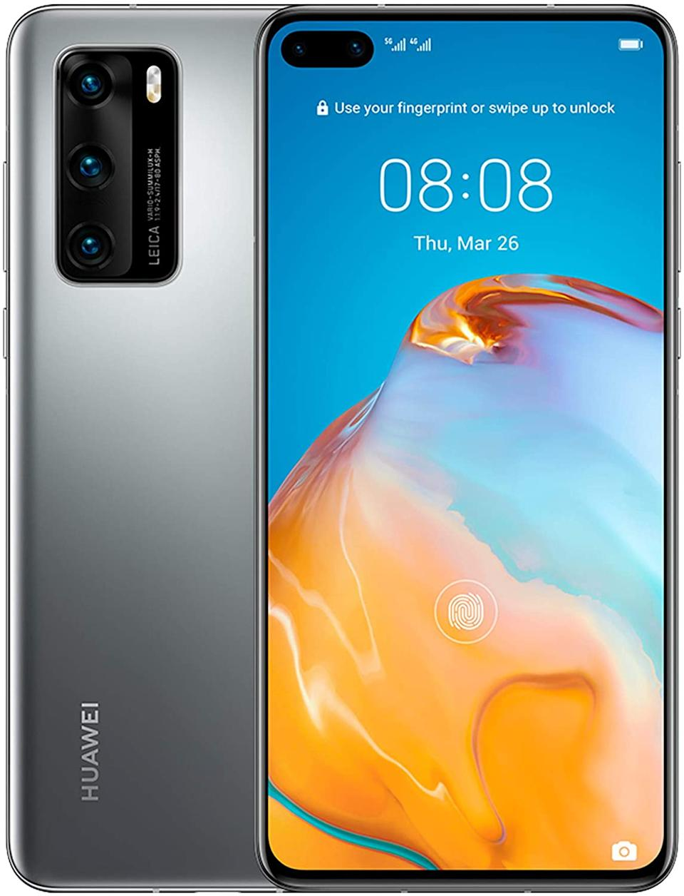 "HUAWEI P40, 128 GB, Smartphone 6.1"", OLED, 50+16+8 MP, 8 GB RAM, Color Plata"
