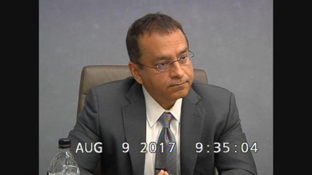 Ramesh 'Sunny' Balwani is seen here during an August 2017 deposition. (Obtained by ABC News)