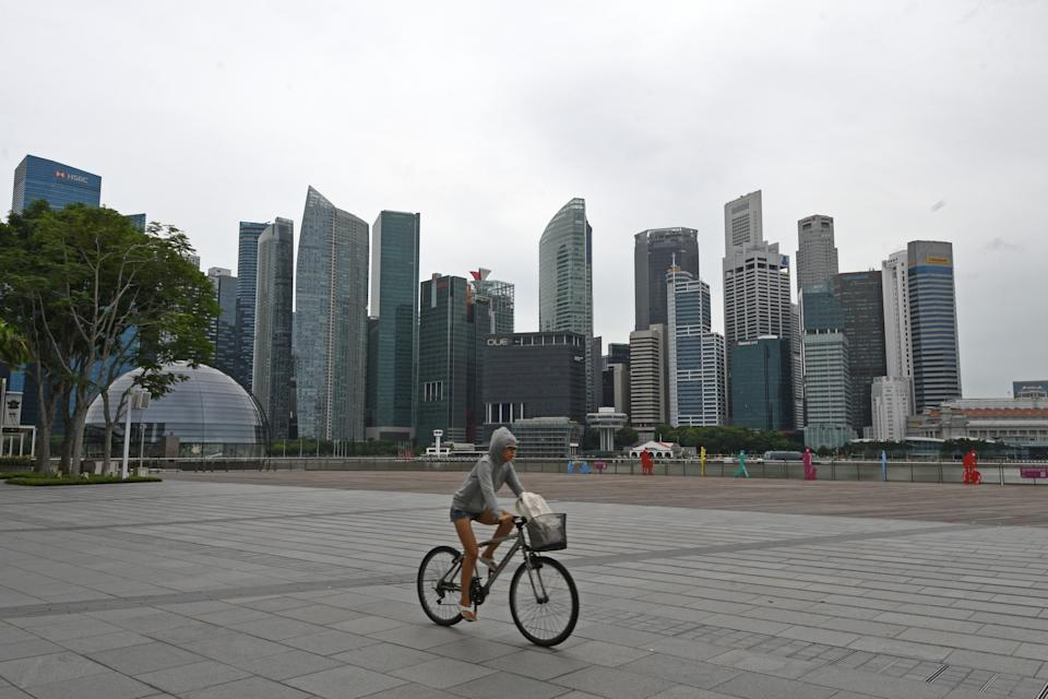 Singapore's CBD skyline seen on 14 July 2021. (PHOTO: Getty Images)