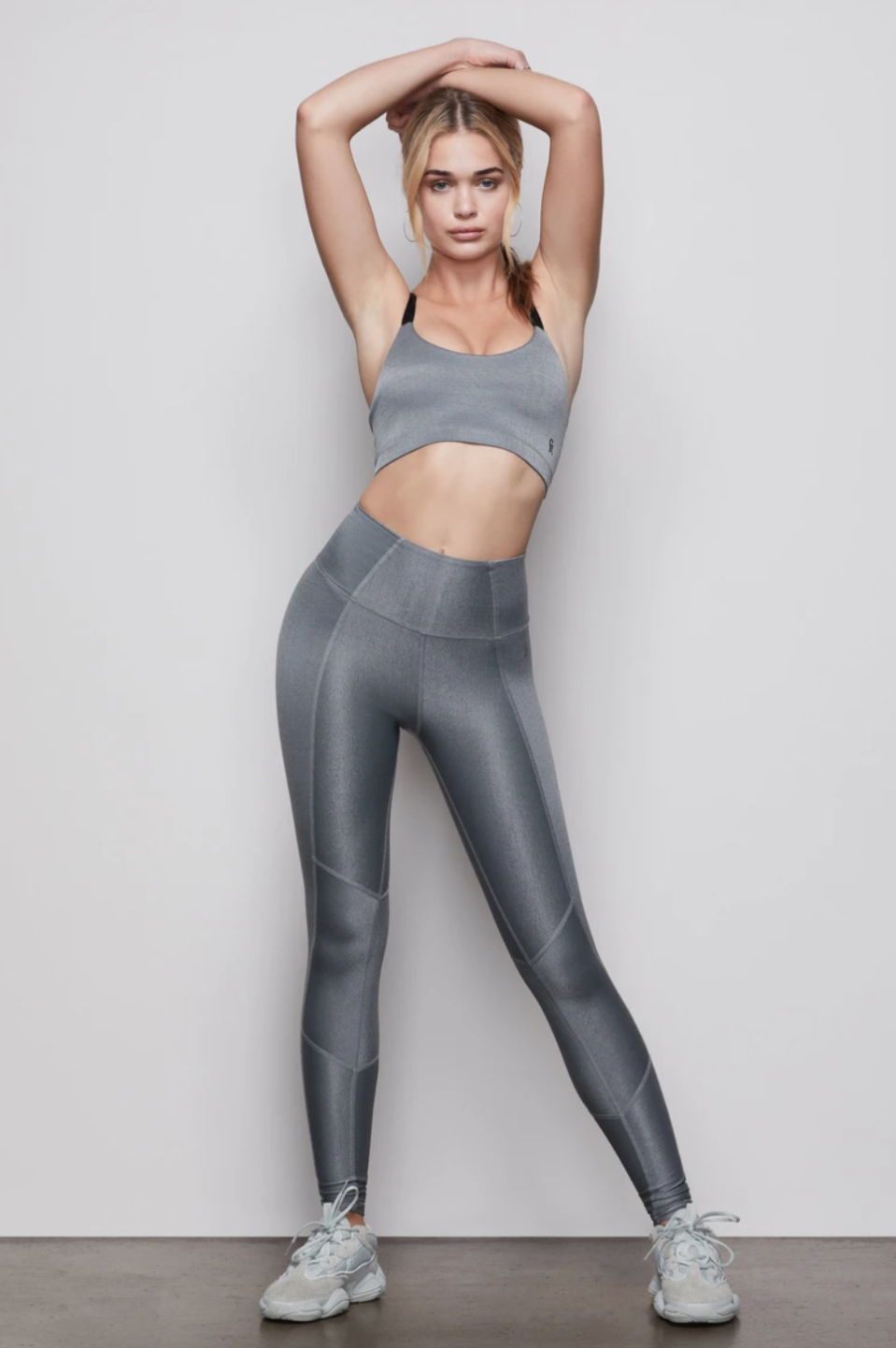 Kendall Jenner and Lauren Perez were spotted wearing the Shiny Rib Leggings, on sale for $82. Image via Good American.