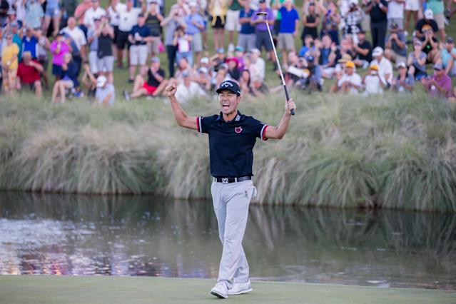 """<a class=""""link rapid-noclick-resp"""" href=""""/pga/players/3962/"""" data-ylk=""""slk:Kevin Na"""">Kevin Na</a> opened up about the broken engagement controversy that's followed him for years, and sparked an emotional message in Korean following his win in Las Vegas last week. (Matthew Bolt/Getty Images)"""