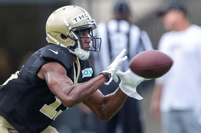 Saints receiver Thomas back at practice after 2 missed games