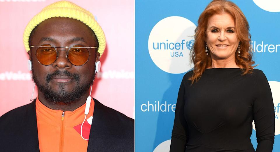 Will.i.am and the Duchess of York [Photos: Getty]