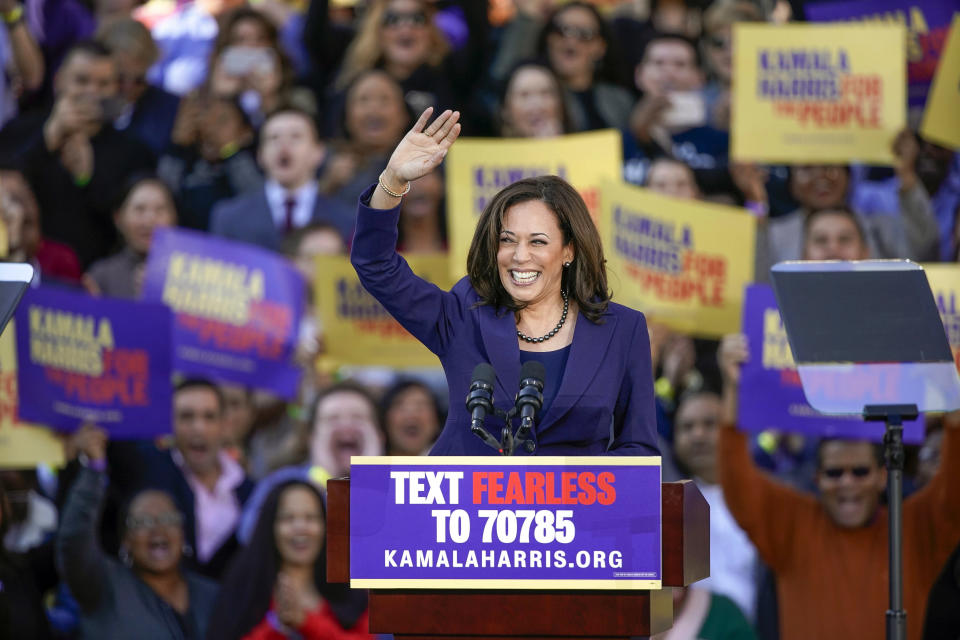 California Sen. Kamala Harris formally launched her campaign for president at a rally in her hometown Sunday. (Photo: Tony Avelar/AP)