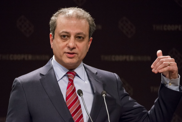 Preet Bharara claims he was sacked by Donald Trump after refusing to take his calls (Rex)