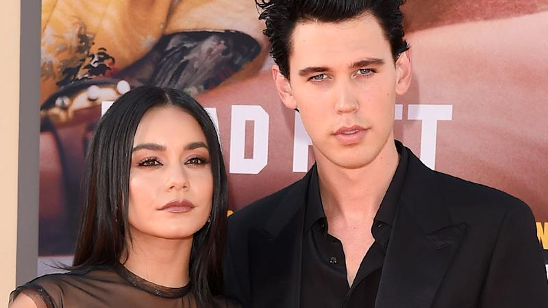 Vanessa Hudgens and Austin Butler at the July premiere of Once Upon A Time In Hollywood