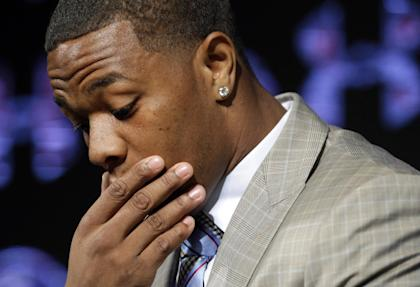 The league suspended Ray Rice indefinitely Monday. (AP)