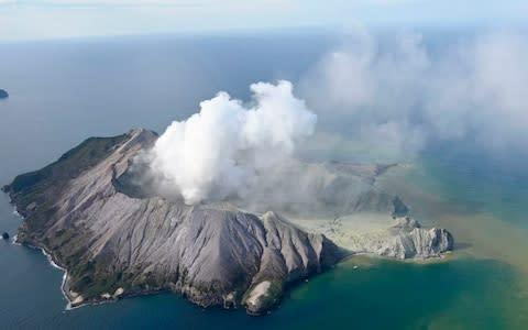 <span>This aerial photo shows White Island after its volcanic eruption in New Zealand Monday, Dec. 9, 2019</span> <span>Credit: George Novak/New Zealand Herald </span>