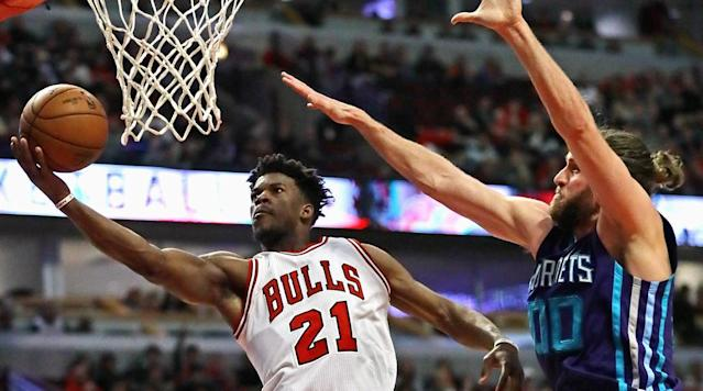 "<p>The NBA draft is less than a week away, and teams and prospects are finishing up a busy period of workouts, research and evaluation.</p><p>The rumor mill continues to buzz as usual, particularly near the top of the draft, where there are multiple scenarios in play.</p><p>The Celtics are already making moves by trading the No. 1 pick to the Philadelphia 76ers. The 76ers are expected to take Washington guard Markelle Fultz, while the Celtics when take the Sixers No. 3 pick. The latest bit of news, which Stephen A. Smith <a href=""http://thebiglead.com/2017/06/19/philadelphia-76ers-turned-down-jimmy-butler-for-3-so-whats-keeping-the-celtics-from-grabbing-him/"" rel=""nofollow noopener"" target=""_blank"" data-ylk=""slk:reported"" class=""link rapid-noclick-resp"">reported</a>, is that the 76ers turned down a Jimmy Butler–No. 3 pick swap. </p><p>• <strong><a href=""https://www.si.com/nba/2017/06/19/nba-mock-draft-celtics-76ers-trade-lakers-josh-jackson-lonzo-ball"" rel=""nofollow noopener"" target=""_blank"" data-ylk=""slk:Mock Draft 6.0: The 76ers are now on the clock"" class=""link rapid-noclick-resp"">Mock Draft 6.0: The 76ers are now on the clock</a></strong></p><p>Free agency opens July 1 when the new league year turns over and the new collective bargaining agreement comes into effect.</p><p>Here's a look at the latest news and rumors from around the league.</p><p>• The Cleveland Cavaliers have been working on assembling a multi-team trade that would try to move Jimmy Butler from the Chicago Bulls. (Marc Stein, <a href=""https://twitter.com/ESPNSteinLine/status/876907779981590528"" rel=""nofollow noopener"" target=""_blank"" data-ylk=""slk:ESPN"" class=""link rapid-noclick-resp"">ESPN</a>)</p><p>• Stein also reports that a third team is necessary to possibly provide the Bulls with the necessary pieces that they demand. K.C. Johnson of the <em>Chicago Tribune</em> <a href=""https://twitter.com/KCJHoop/status/876909436736065537"" rel=""nofollow noopener"" target=""_blank"" data-ylk=""slk:added"" class=""link rapid-noclick-resp"">added</a> that the Suns would possibly be the third team.</p><p>• Lonzo Ball's camp remains confident that he will be the Lakers' selection with the No. 2 pick (Jake Fischer, <a href=""https://twitter.com/JakeLFischer/status/876861638288306177"" rel=""nofollow noopener"" target=""_blank"" data-ylk=""slk:The Crossover"" class=""link rapid-noclick-resp"">The Crossover</a>)</p><p>• The Boston Celtics officially announced their trade with the Sixers. Celtics president Danny Ainge said, ""We think there's a really good chance the player we'll take at 3 is the player we would have taken at 1."" (Adam Himmeisbach, <a href=""https://twitter.com/AdamHimmelsbach/status/876859816194560000"" rel=""nofollow noopener"" target=""_blank"" data-ylk=""slk:Boston Celtics"" class=""link rapid-noclick-resp"">Boston Celtics</a>)</p><p>• The 76ers <a href=""http://thebiglead.com/2017/06/19/philadelphia-76ers-turned-down-jimmy-butler-for-3-so-whats-keeping-the-celtics-from-grabbing-him/"" rel=""nofollow noopener"" target=""_blank"" data-ylk=""slk:turned down"" class=""link rapid-noclick-resp"">turned down</a> Chicago Bulls swingman Jimmy Butler in exchange for No. 3 overall pick. (<a href=""http://www.espn.com/blog/nba/rumors/post/_/id/43364/rumor-central-jimmy-butler-to-celtics-still-an-unlikely-scenario"" rel=""nofollow noopener"" target=""_blank"" data-ylk=""slk:ESPN.com"" class=""link rapid-noclick-resp"">ESPN.com</a>)</p><p>• The Los Angeles Lakers are looking to add another first-round draft pick and have called at least two other lottery teams. The Lakers already own the draft's No. 2 overall selection. (<a href=""http://www.espn.com/nba/story/_/id/19676744/los-angeles-lakers-trying-acquire-another-first-round-pick-nba-draft"" rel=""nofollow noopener"" target=""_blank"" data-ylk=""slk:ESPN.com"" class=""link rapid-noclick-resp"">ESPN.com</a>)</p><p>• Golden State Warriors forward Andre Iguodala plans to seriously consider other teams in free agent period. (<a href=""https://sports.yahoo.com/sources-andre-iguodalas-free-agency-put-future-warriors-doubt-153941238.html"" data-ylk=""slk:The Vertical"" class=""link rapid-noclick-resp newsroom-embed-article"">The Vertical</a>)</p><p>• The Lakers expected to join the Paul George talks if the Cavaliers are closing in on a deal with the four–time All–Star. It is unclear if Lakers No. 2 pick is on the table. (<a href=""https://twitter.com/KevinOConnorNBA/status/876641304612143104"" rel=""nofollow noopener"" target=""_blank"" data-ylk=""slk:The Ringe"" class=""link rapid-noclick-resp"">The Ringe</a>r)</p><p>• The Celtics would love to acquire Pelicans forward Anthony Davis, but league sources say a blockbuster deal at this point is unlikely. Davis is signed through 2021. (<a href=""https://sports.yahoo.com/danny-ainge-puts-legacy-line-passing-markelle-fultz-153425097.html"" data-ylk=""slk:The Vertical"" class=""link rapid-noclick-resp newsroom-embed-article"">The Vertical</a>)</p><p>• The Indiana Pacers are asking teams for ideas on potential point guard trades. (<a href=""https://twitter.com/daldridgetnt/status/876602720987340800"" rel=""nofollow noopener"" target=""_blank"" data-ylk=""slk:TNT/NBA.com"" class=""link rapid-noclick-resp"">TNT/NBA.com</a>)</p><p>• The Dallas Mavericks have discussed trading for Minnesota Timberwolves point guard Ricky Rubio. (<a href=""https://twitter.com/fishsports/status/876267591488212995"" rel=""nofollow noopener"" target=""_blank"" data-ylk=""slk:DallasBasketball.com"" class=""link rapid-noclick-resp"">DallasBasketball.com</a>)</p><p>• The Wizards are trying to find a way to acquire Paul George in a trade with the Pacers but lack the moveable assets other suitors have. (<a href=""http://www.nba.com/article/2017/06/19/morning-tip-assessing-state-land-2017-draft-sixers-celtics-lakers"" rel=""nofollow noopener"" target=""_blank"" data-ylk=""slk:NBA.com"" class=""link rapid-noclick-resp"">NBA.com</a>)</p>"