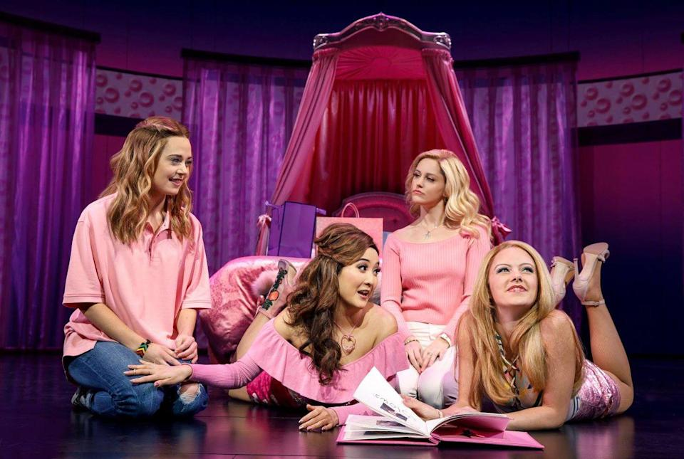 """<p>Tina Fey, the writer and star of the 2004 film, brought the story of """"The Plastics"""" to Broadway with the help of her songwriter husband, Jeff Richmand. Much like the movie, the show follows Cady Heron (Erika Henningsen) as she navigates through life at a new school run by a popular crowd known as """"The Plastics."""" The adaptation, which opened in 2018, ran the challenge of having to create musical numbers for a show that, well, wasn't a musical in the first place. Songs include """"It Roars,"""" """"Revenge Party,"""" and """"Meet the Plastics."""" Reviews for the show are relatively positive, or as the characters would say, """"totally fetch.""""</p>"""
