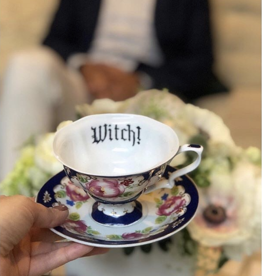 """<p>You don't have to be <a href=""""https://www.housebeautiful.com/lifestyle/g14956526/best-tearooms-for-high-tea/"""" target=""""_blank"""">Kate Middleton to sip on a cup of chamomile tea</a> and nibble on some lemon bars. Tea parties may have originated as a posh, sophisticated gathering of well-behaved women sporting frilly hats and chit chatting about mundane topics, but the year is 2020 and we are woke women who speak our minds—gosh darnit! To heck with being prim and proper! Sometimes we like to get a little sassy. Online retailer <a href=""""https://www.misshavishamscuriosities.com/"""" target=""""_blank"""">Miss Havisham's Curiosities</a>, run by writer <a href=""""https://www.instagram.com/misshavishamscuriosities/"""" target=""""_blank"""">Melissa Johnson</a>, sells 'Insult Tea Cups,' for those looking to add some cheeky pieces to their table setting. The witty, yet tastefully decorated cups were inspired by Johnson's grandmother, and are sure to make your guests giggle. Finally, the things we've always wanted to say aloud, now printed on fine, fanciful china. Check them out!</p>"""