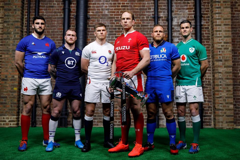 Thrilling finale: There is plenty at stake on the final day of a delayed 2020 Six Nations (AFP via Getty Images)