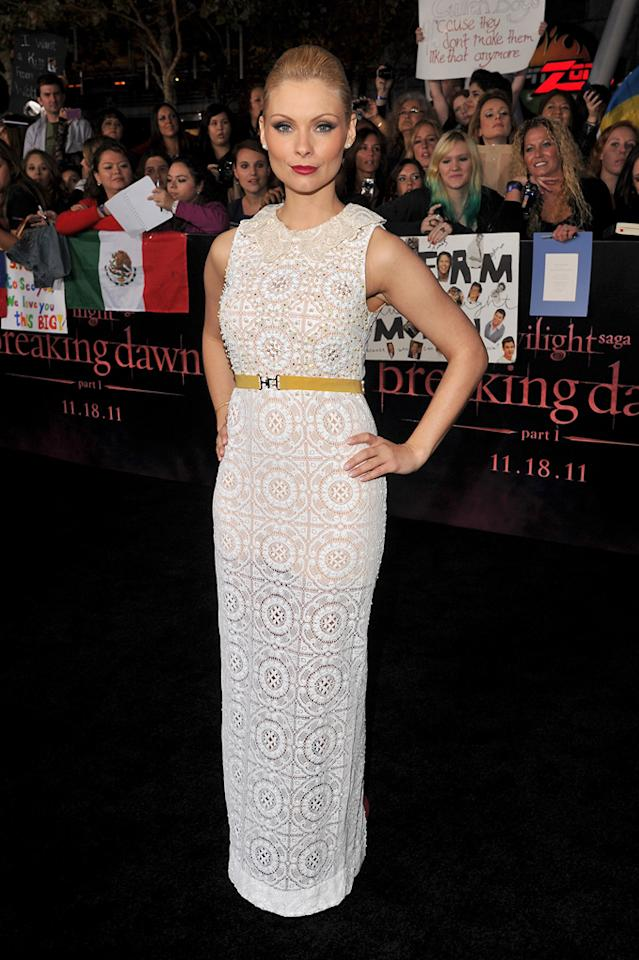 "<a href=""http://movies.yahoo.com/movie/contributor/1808715949"">MyAnna Buring</a> at the Los Angeles premiere of <a href=""http://movies.yahoo.com/movie/1810158314/info"">The Twilight Saga: Breaking Dawn - Part 1</a> on November 14, 2011."