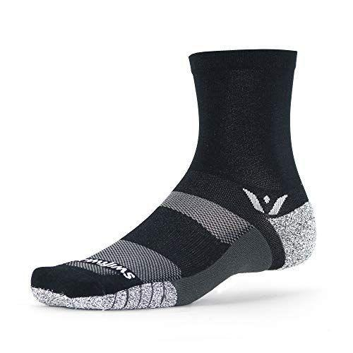 "<p><strong>Swiftwick</strong></p><p>amazon.com</p><p><strong>$23.99</strong></p><p><a href=""https://www.amazon.com/dp/B07PPB99N9?tag=syn-yahoo-20&ascsubtag=%5Bartid%7C10055.g.34828090%5Bsrc%7Cyahoo-us"" rel=""nofollow noopener"" target=""_blank"" data-ylk=""slk:Shop Now"" class=""link rapid-noclick-resp"">Shop Now</a></p><p>Swiftwick's Flite XT socks are designed to offer maximum stability, which is key to accurate footwork. This sock hugs the arch and gives a slight, but effective, cushion under the heel and ball of your foot. AnkleLock technology supports the ankle, while flex channels help your range of motion. The socks are super soft, but not slippery thanks to the combination of GripDry and Olefin fibers that wick moisture, dry quickly, and grip to the inside of your shoes.</p><p>All these features combined make the Flite XT a great trail running sock, but if you don't need as much ankle coverage, it also comes in a <a href=""https://www.amazon.com/dp/B07PP9MYWM/?tag=syn-yahoo-20&ascsubtag=%5Bartid%7C10055.g.34828090%5Bsrc%7Cyahoo-us"" rel=""nofollow noopener"" target=""_blank"" data-ylk=""slk:no-show cuff height"" class=""link rapid-noclick-resp"">no-show cuff height</a>. However, note that because these are specialized socks, they are a bit pricier than other options. They'll work best for runners looking for slight compression and added support.</p>"