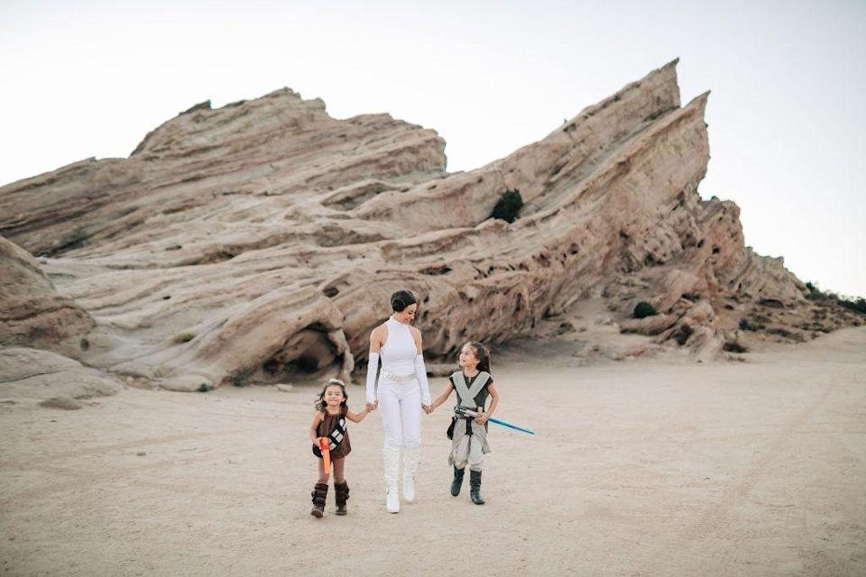 """<p>Want a great family costume? Look to a galaxy far, far away. With at least 12 movies and six TV series under its belt, the Star Wars universe has tons of characters to choose from.</p><p><a href=""""http://themotheroverload.com/halloween-costume-ideas-families/"""" rel=""""nofollow noopener"""" target=""""_blank"""" data-ylk=""""slk:See more at The Mother Overload »"""" class=""""link rapid-noclick-resp""""><em>See more at The Mother Overload »</em></a></p><p><strong>RELATED:</strong> <a href=""""https://www.goodhousekeeping.com/holidays/halloween-ideas/g4560/star-wars-halloween-costumes"""" rel=""""nofollow noopener"""" target=""""_blank"""" data-ylk=""""slk:Star Wars Family Costumes That Bring Balance to The Force"""" class=""""link rapid-noclick-resp"""">Star Wars Family Costumes That Bring Balance to The Force</a></p>"""