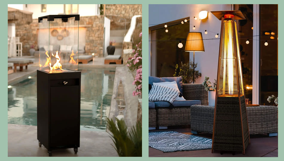 This sale is hot! Freestanding patio heaters and more are discounted at Wayfair. (Photo: Wayfair)