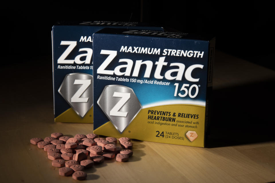Zantac is being recalled in the U.S. and Canada after an investigation found small amounts of a probable human carcinogen in versions of Zantac and its generic version, ranitidine. (Photo: Drew Angerer/Getty Images)