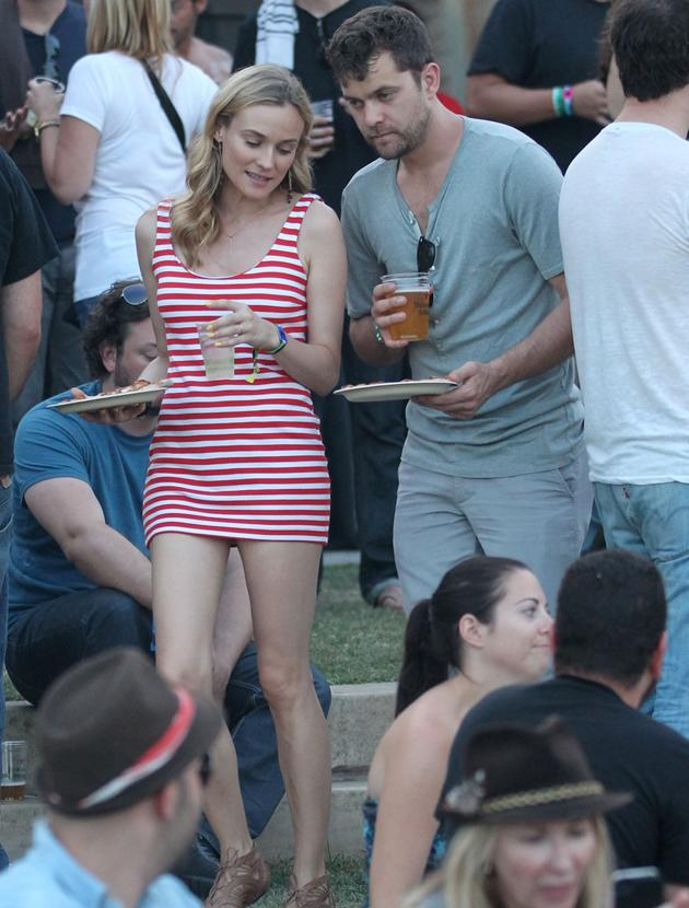 Celebrities at festivals photos: Joshua Jackson and his stunning girlfriend actress Diane Kruger enjoyed some booze and food at last year's Coachella.