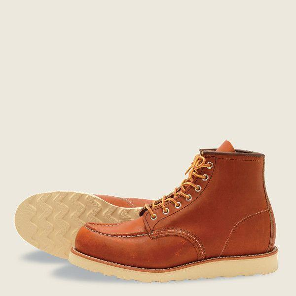 """<p><strong>Red Wing</strong></p><p><strong>$279.98</strong></p><p><a href=""""https://www.amazon.com/Red-Wing-Heritage-Classic-Moc/dp/B001KS2DGK?tag=syn-yahoo-20&ascsubtag=%5Bartid%7C2139.g.19540212%5Bsrc%7Cyahoo-us"""" rel=""""nofollow noopener"""" target=""""_blank"""" data-ylk=""""slk:BUY IT HERE"""" class=""""link rapid-noclick-resp"""">BUY IT HERE</a></p><p>There's no need to sacrifice style for function—these moccasin style Red Wing work boots boast plenty of that rugged cool factor. They were originally created in 1952, proving that the best things stand the test of time, and still boast a lot of the same construction, like leather that molds to the shape of your foot the more you wear them.</p>"""