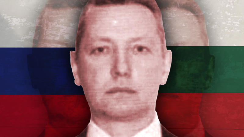 Vladimir Anatoleyvich Rusyaev. (Photo illustration: Yahoo News; photos: exclusive obtained by Yahoo News, AP (2))