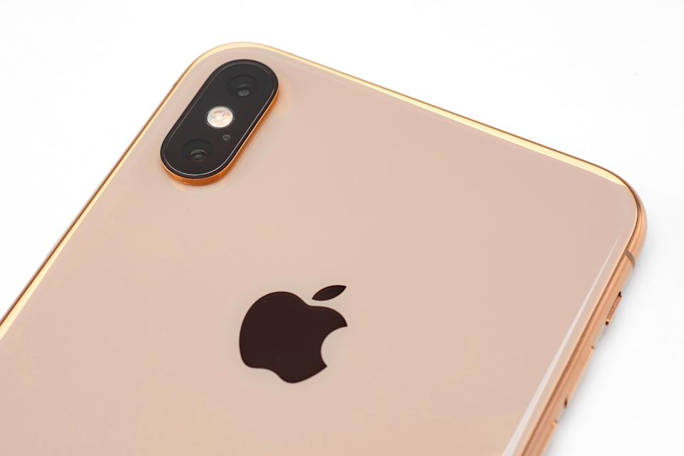 Detail of an Apple iPhone XS Max smartphone with a Gold finish, taken on October 2, 2018. (Photo by Phil Barker/MacFormat Magazine via Getty Images)