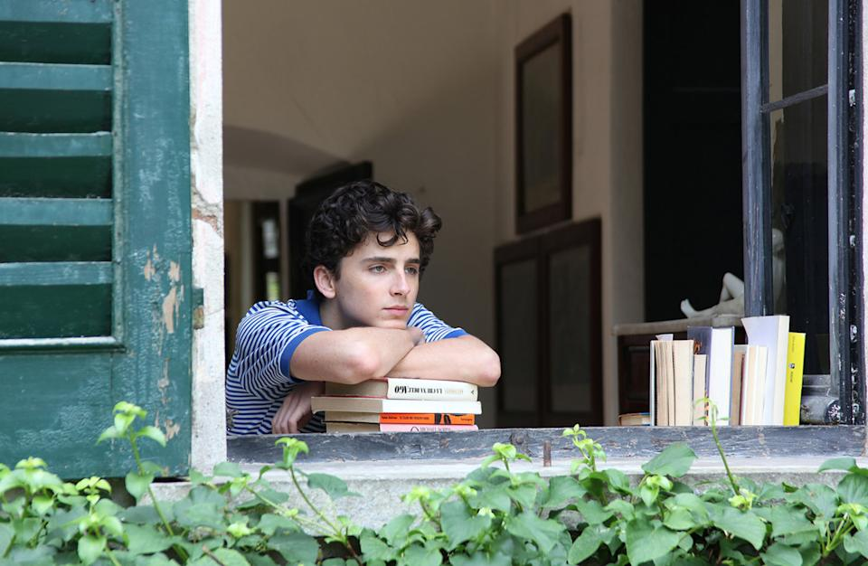 """<strong><em><h3>Call Me By Your Name </h3></em></strong><h3>(2017)<br></h3><br>Elio (Timothée Chalemet) and Oliver (Armie Hammer) have a breathtaking romance over one Italian summer, and you'll never look at <a href=""""https://www.refinery29.com/en-us/2017/11/181607/call-me-by-your-name-peach-scene-emoji"""" rel=""""nofollow noopener"""" target=""""_blank"""" data-ylk=""""slk:peaches"""" class=""""link rapid-noclick-resp"""">peaches</a> the same way again."""