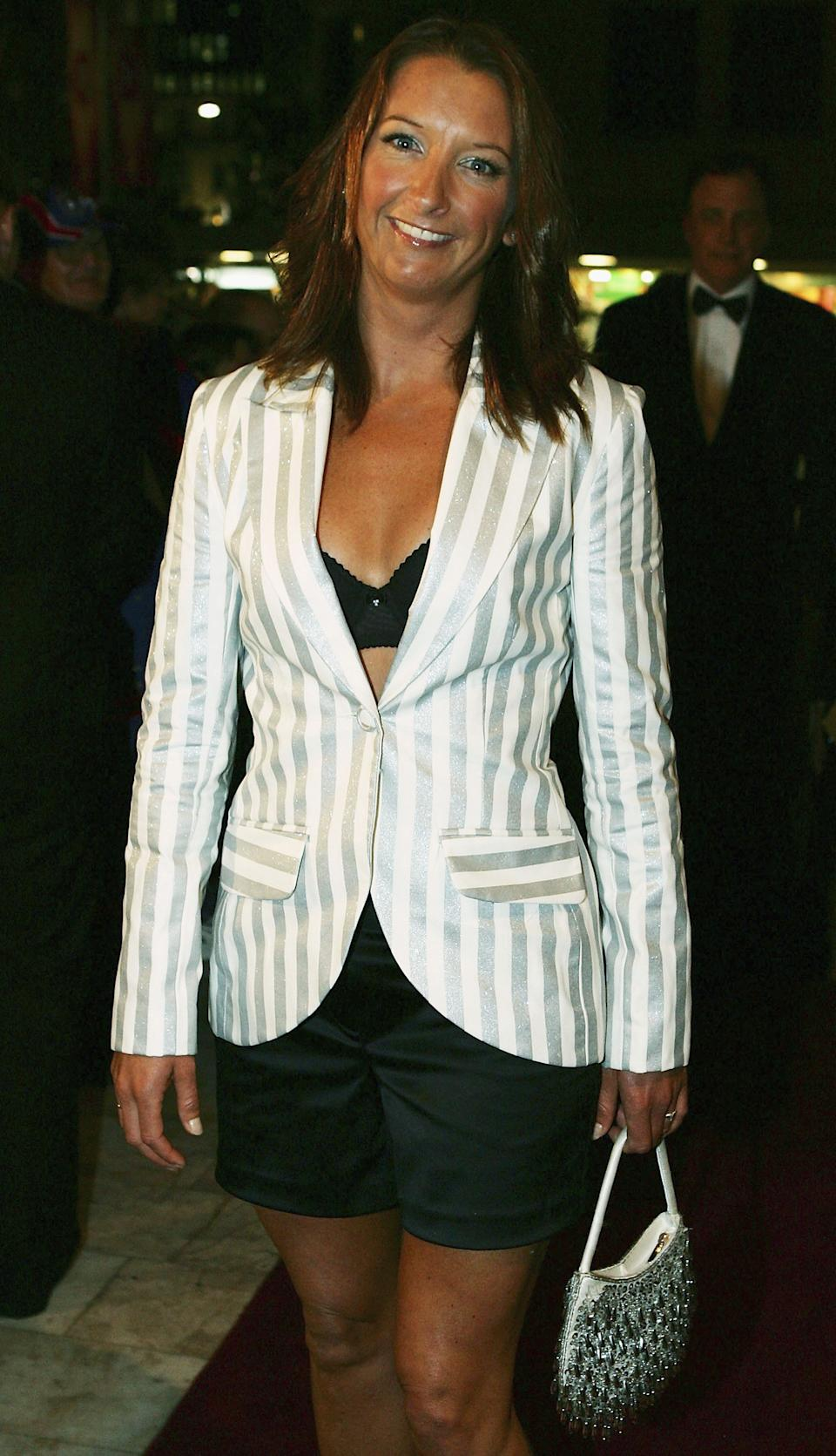 Layne Beachley arrives for the Dally M Awards in 2005