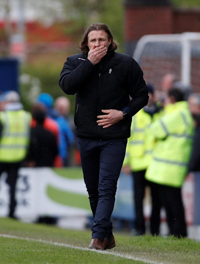 "Soccer Football - League Two - Chesterfield v Wycombe Wanderers - Proact Stadium, Chesterfield, Britain - April 28, 2018 Wycombe Wanderers Manager Gareth Ainsworth during the second half Action Images/Paul Childs EDITORIAL USE ONLY. No use with unauthorized audio, video, data, fixture lists, club/league logos or ""live"" services. Online in-match use limited to 75 images, no video emulation. No use in betting, games or single club/league/player publications. Please contact your account representative for further details."