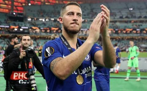 Hazard's last action in a Chelsea shirt was to help the club lift the Europa League - Credit: PA