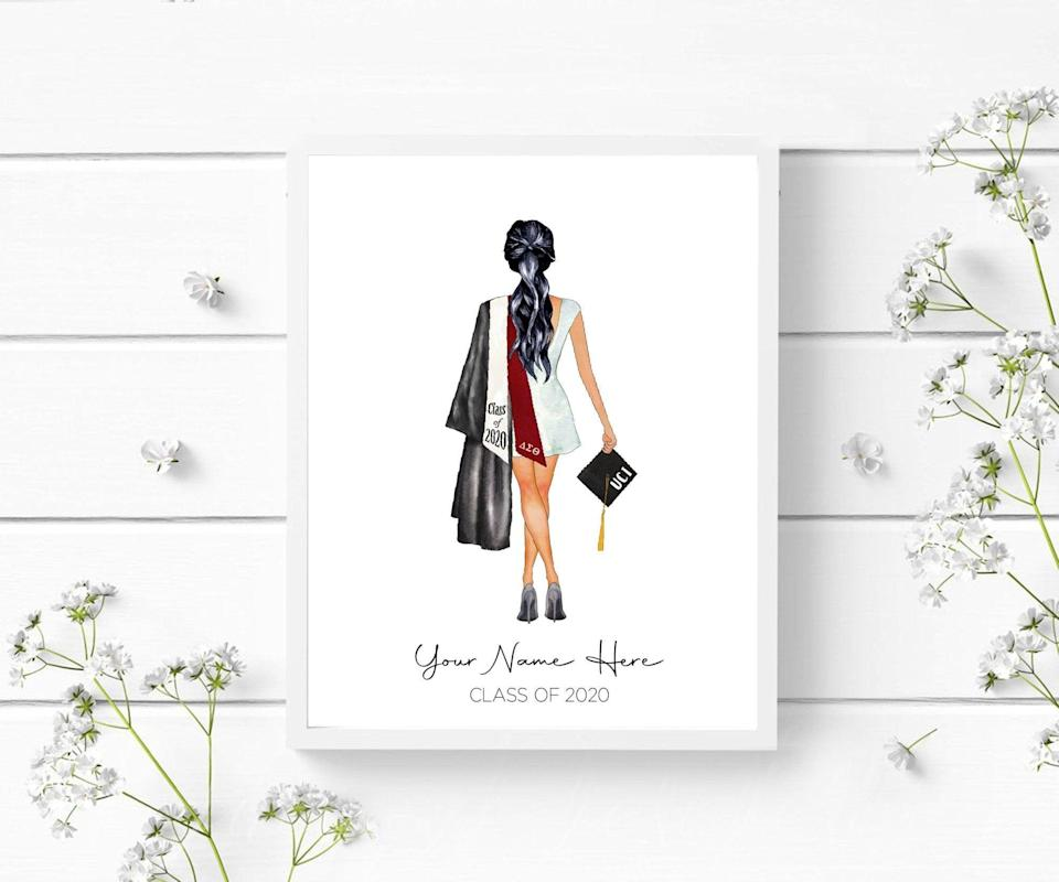 <p>They will love and appreicate this <span>Custom Graduation Portrait</span> ($15-$25). They can hang it in their home, dorm, or new apartment!</p>