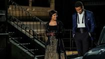 """<p>Released in 2020, <em>Sylvie's Love </em>is a refreshingly old-fashioned love story. Sylvie (Tessa Thompson) and Robert (Nnamdi Asomugha) meet in 1950s New York. Despite the attraction, Sylvie and Robert follow their own ambitions and obligations instead of their hearts. Years later, they get a chance to make it work. </p><p><a class=""""link rapid-noclick-resp"""" href=""""https://www.amazon.com/gp/video/detail/amzn1.dv.gti.64ba8832-0417-90ef-4138-024611fed803?autoplay=1&ref_=atv_cf_strg_wb&tag=syn-yahoo-20&ascsubtag=%5Bartid%7C10072.g.33383086%5Bsrc%7Cyahoo-us"""" rel=""""nofollow noopener"""" target=""""_blank"""" data-ylk=""""slk:Watch Now"""">Watch Now</a></p>"""