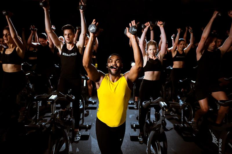 A SoulCycle instructor leading a class. Photo: SoulCycle/Maria Bentley