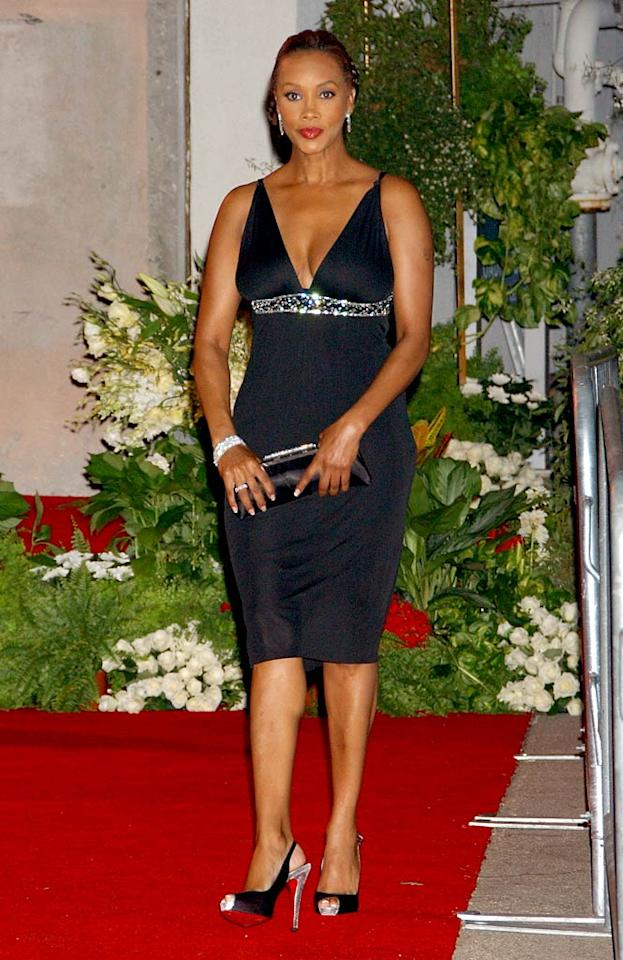 "Vivica A. Fox looks foxy in her form-fitting black gown. Gregg DeGuire/<a href=""http://www.wireimage.com"" target=""new"">WireImage.com</a> - July 22, 2007"