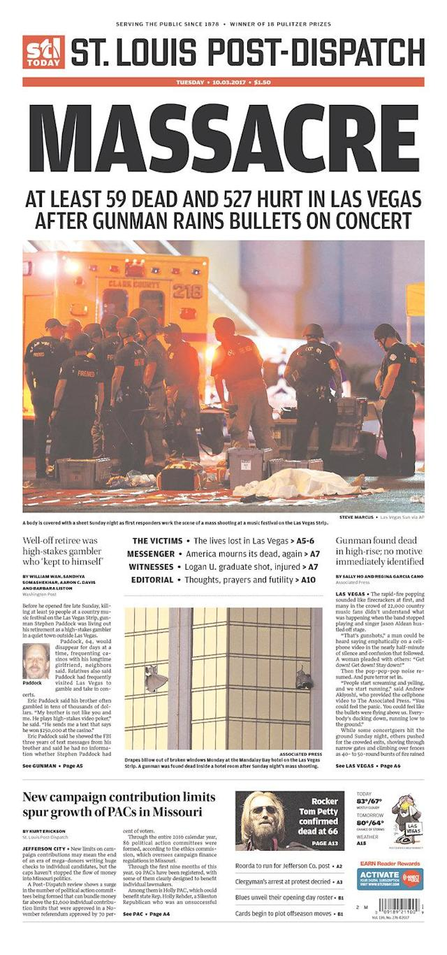 "<p>""St. Louis Post-Dispatch,"" published in St. Louis, Mo. (newseum.org) </p>"