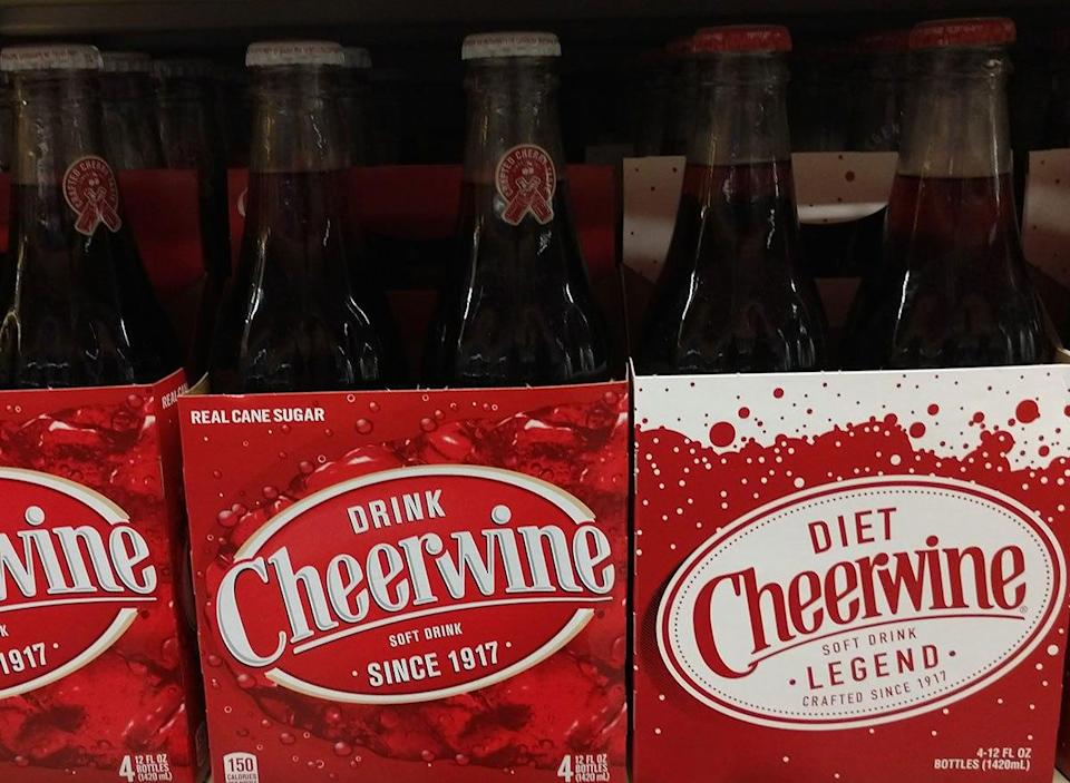 bottles of cheerwine soda