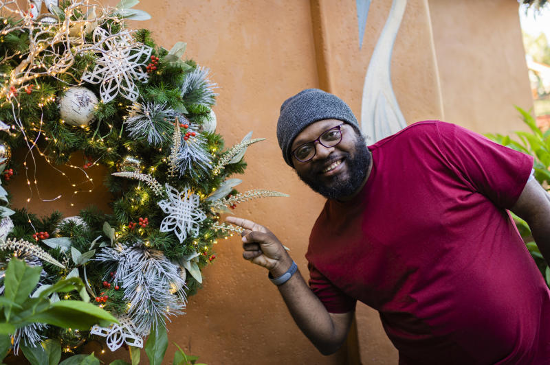 The festive snowflake decorations at the Walt Disney World Resort's Animal Kingdom park were made by artisans with special needs. (Photo: Disney)