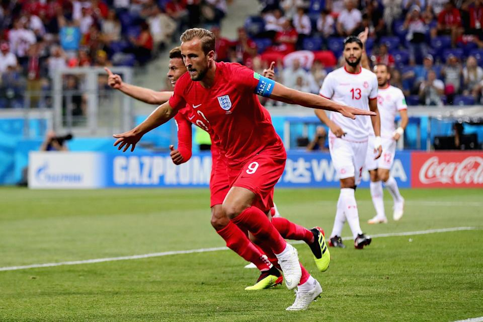 England can thank Harry Kane for earning all three points in its World Cup opener. (Getty)