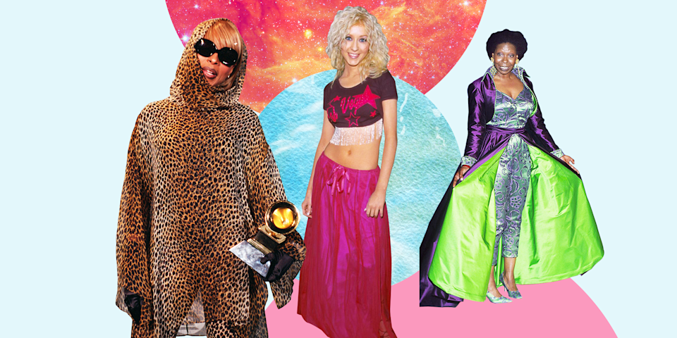 <p>The '90s were a weird time for fashion. The decade gave us spaghetti straps, low-rise jeans, and crop tops, and according to celebrities, these trends were also more than okay to wear to fancy events—yes, even the Oscars. Here, 72 wild, unconventional red-carpet outfits from the '90s that you seriously have to see to believe. </p>