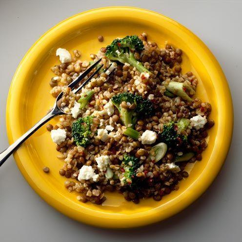 """<p>Make lentils your go-to staple if you're preparing a healthy meal. Brown lentils work as a great substitute for rice or pasta as they're high in protein and vitamin B.</p><p><strong>Recipe: <a href=""""https://www.goodhousekeeping.com/uk/food/recipes/a537708/hot-lentil-and-feta-salad/"""" rel=""""nofollow noopener"""" target=""""_blank"""" data-ylk=""""slk:Hot lentil and feta salad"""" class=""""link rapid-noclick-resp"""">Hot lentil and feta salad</a></strong></p>"""