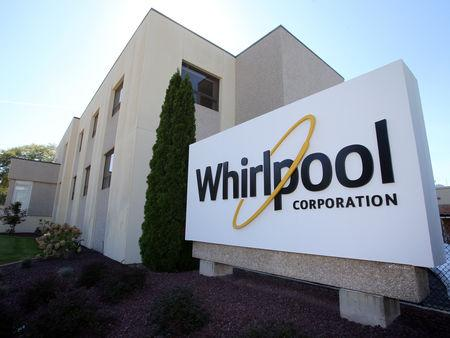 FILE PHOTO - The administrative entrance at the Whirlpool plant in Clyde Ohio