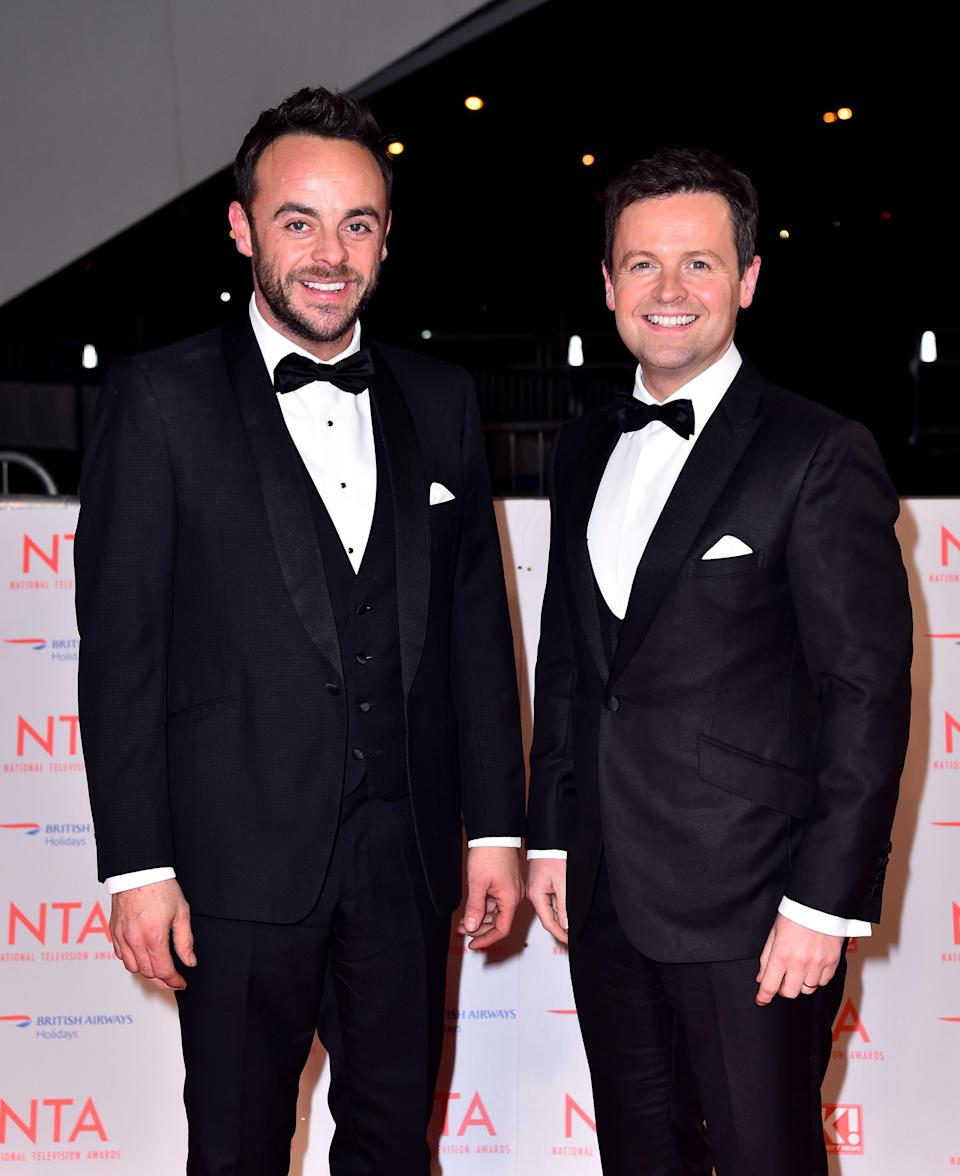 Dec will present the remaining episodes of Saturday Night Takeaway alone (PA)