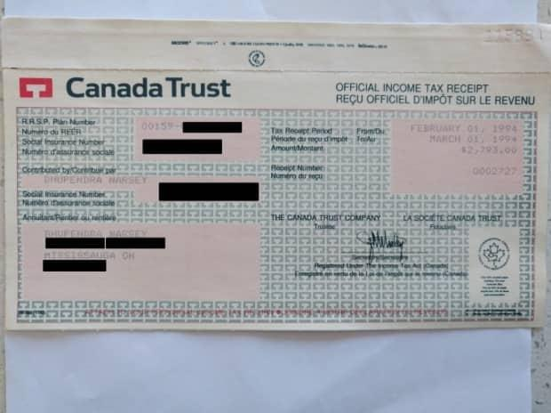 Bhupendra Narsey deposited $2,793 into his TD Canada Trust RSP account in 1994. Now the money is unaccounted for, he says.