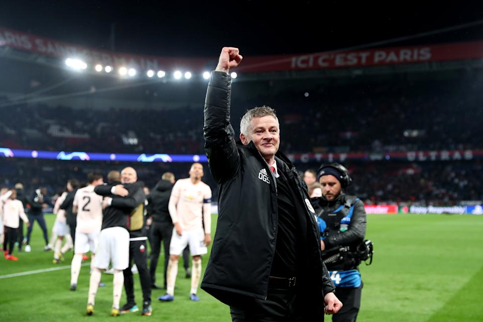 Solskjaer salutes the travelling United fans last yearGetty Images